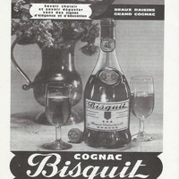 Father's Day French 60's Cognac Advertisement Vintage Bisquit Cognac Ad Bisquit Advertisement Bar Decor Mancave Decor Gift for Him Liquor Ad