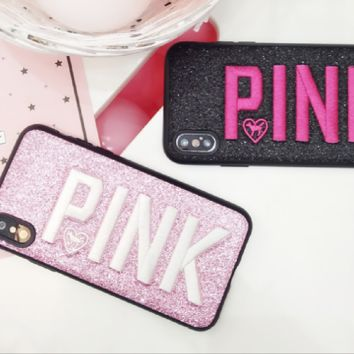 PINK print phone shell phone case for Iphone X
