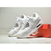 NIKE AIR MAX 90 2019 new breathable mesh men's sports shoes White