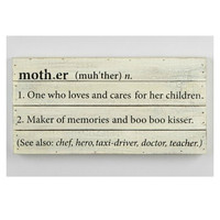 Mud Pie Mother Plaque