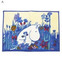 """Moomin and bath products • bath mat """"flower meadow"""" and Nordic ☆ Maru, (65 x 45 cm) Interior / anime toy store ☆ cinema collection ◆"""