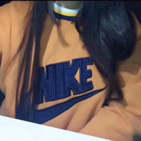 NIKE Fashion Letter Print Round Neck Top Pullover Sweater Sweatshirt