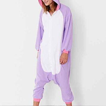 Kigurumi Purple Unicorn Costume
