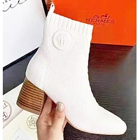 Hermes Autumn And Winter Fashion New Women Shoes Boots High Heels