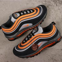 Nike Air Max 97 Wolf Grey/ Orange Sneakers - Best Online Sale