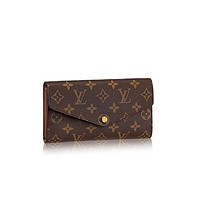 Louis V uitton Monogram Canvas Sarah Wallet M60531