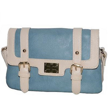 Two Tone Fashion Messenger Blue Bag