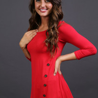 Red Hot Button Tunic | The Rage