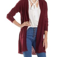 Open Front Duster Cardigan Sweater by Charlotte Russe