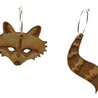 Raccoon & Tail Hoops