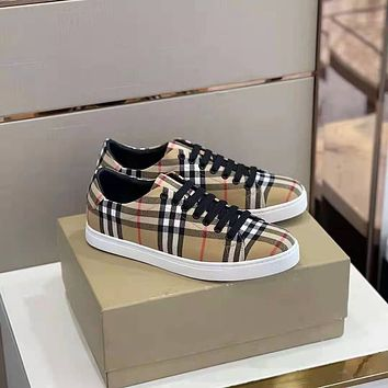 BURBERRY2021  Men Fashion Boots fashionable Casual leather Breathable Sneakers Running Shoes0525cx