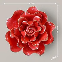 Mural Arts Craft Home decor European ceramic flower wall hanging adornment white/red bloom