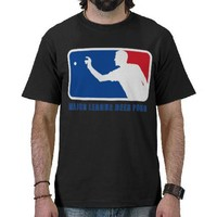 Major League Beer Pong T-shirt from Zazzle.com