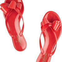 Valentino Bow-embellished rubber sandals – 25% at THE OUTNET.COM