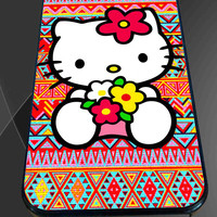 Hello kitty On Aztec  for iPhone 4/4s, iPhone 5/5S/5C/6, Samsung S3/S4/S5 Unique Case *76*