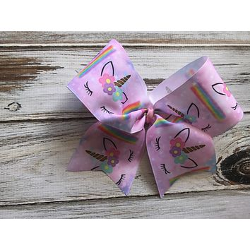 Unicorn Cheer Bow