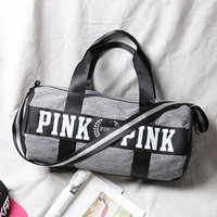 Canvas secret Storage Bag organizer Large Pink Men Women Travel Bag Waterproof Victoria Casual Beach Exercise Luggage Bags