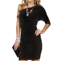 Donna-Black/Silver Homecoming Dress