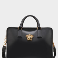 Gold Medusa Messenger Bag by Versace