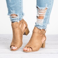 Invest Cutout Booties - Tan