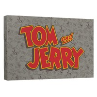 Tom And Jerry - Logo Canvas Wall Art With Back Board