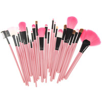 24 Piece Naked Makeup Brush Set (Pink)