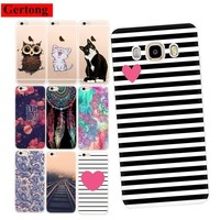 GerTong Phone Case For Samsung Galaxy A5 2016 A3 A7 J3 J5 J7 2017 Funny Cat Patterned Case For iPhone 5 S 5S SE 6 7 4S 8 X