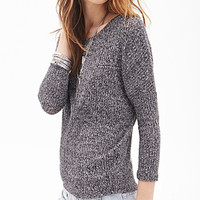 FOREVER 21 Marled Knit Dolman Sweater