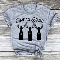 Santa's Squad Holiday Tee Christmas unisex women fashion t-shirt grunge tumblr cotton holiday party street style tops goth shirt
