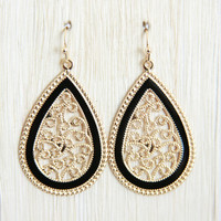 Black Lucky 6 Earrings