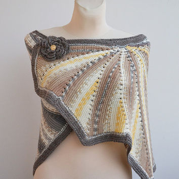 Assymmetrical shawl, stole,unique gifts, fashion woman,winter accessories