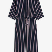 Wide fitting jumpsuit - Striped to perfection - Jumpsuits - Monki GB