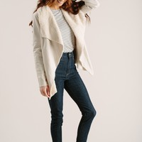 Faith Sand Faux Fur Lined Jacket