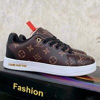 LV retro classic presbyopia men and women low-top sneakers shoes