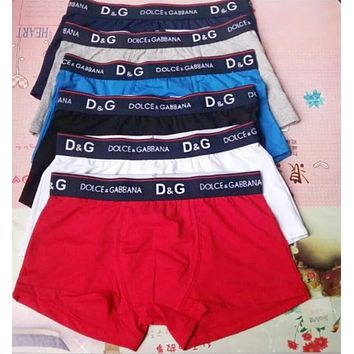 D&G Popular Men Print Ice Silk Breathable Underwear(6-Color)