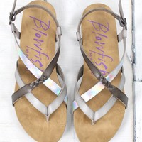 Granola Strappy Lunar Metallic Sandals {Ash Grey}