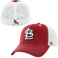 St. Louis Cardinals '47 Brand Blue Mountain Flex Hat – White