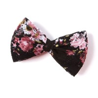 Floral Lace Bow Hair Clip  | Icing