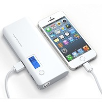50000mAh Mobile Power Bank Dual USB LED External Battery Charger for All Phone