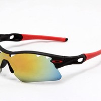 New Original Oakley Radar EV Path Sunglasses OO9208-21 Positive Red Iridium Lens