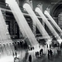 Grand Central Station-Vintage Black and White, Photography Poster Print, 24 by 36-Inch