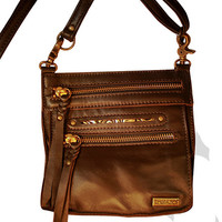 Tasca Leather Purse - Coffee with Antique Brass