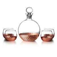 5-Piece Whiskey Decanter Glasses Set in Copper