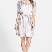 Women's Caslon Linen Cargo Dress,