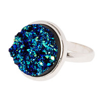Midnight Faux Druzy Quartz Fashion Ring