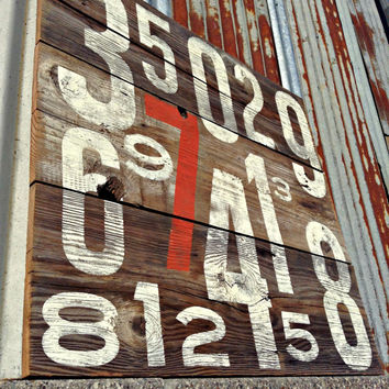 Reclaimed Rustic Decor Barn Wood Sign Vintage Farmhouse Decor Minimalist Numbers Rustic Country Cottage Cabin Handmade Hand Painted
