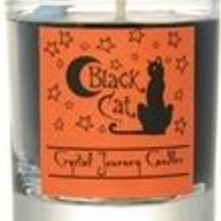 Black Cat soy votive candle