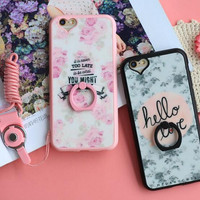 Fashion lovers flower mobile phone case for iphone 5 5s SE 6 6s 6plus 6s plus + Nice gift   box!