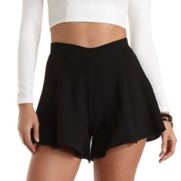 Textured Knit High-Waisted Shorts by Charlotte Russe