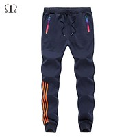2017 Joggers Pants Men SolidFitness Bodybuilding Gyms Pants For Runners Clothing Autumn Sweat Trousers Britches M-5XL